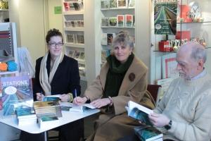 Katy Darby, Paula Read and Peter Morgan at London Transport Museum