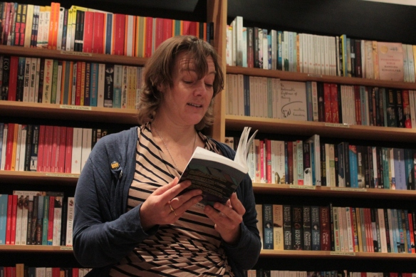 caroline hardman reading at Brick lane bookshop