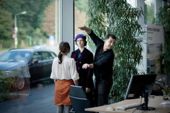 Joshan Esfiandiari Martin directing - he's the one waving his arms.