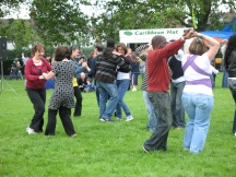 dancers at a previous Hilly Fields Summer Fayre
