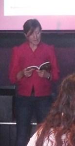 Emily Cleaver reading at Sabotage