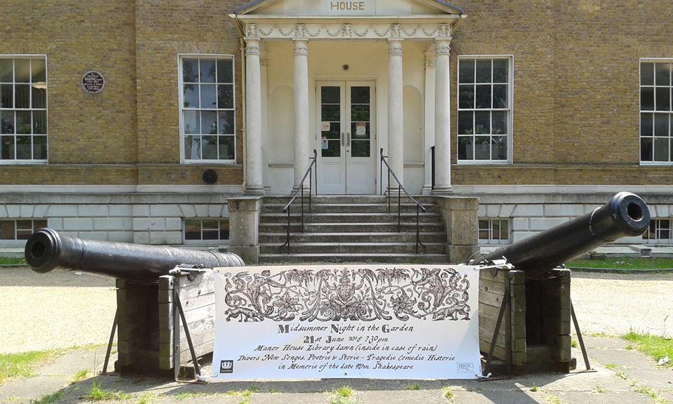 midsummer banner in situ