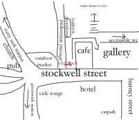 sketch map Stephen Lawrence Gallery
